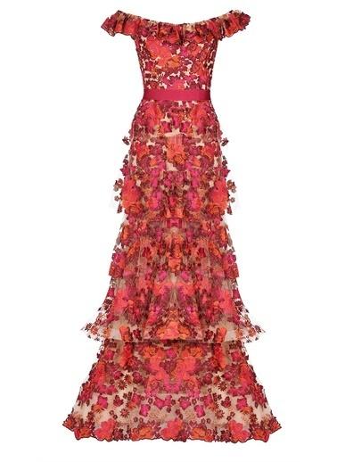 Siren Ertan Elbise Kırmızı